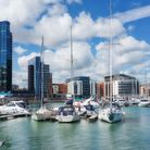 The 21st century redevelopment of Ocean Village marina in Southampton is nearing completion seen her