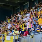 Torquay United fans during the National League Semi Final Play Off match between Torquay United and