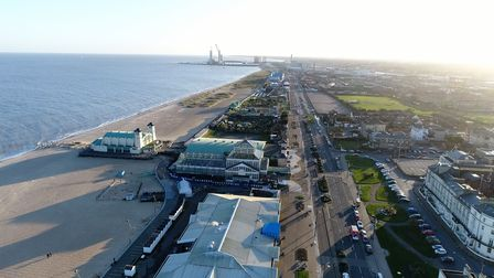Great Yarmouth's Winter Gardens from the air