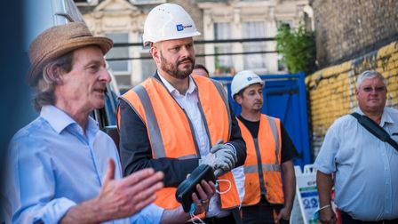Hackney Cllr Guy Nicholson and Mayor Philip Glanville discuss the Hackney Central revamp with partners.
