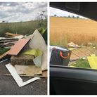 Kelshall, Therfield and Coombe Road fly-tipping