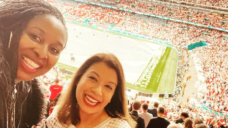 MPs Dawn Butler and Tulip Siddiq at the Euro 2020 final at Wembleybetween England and Italy