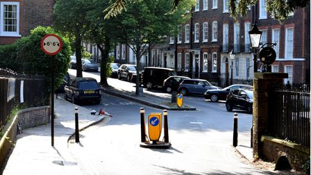 The new width restriction on Church Row, Hampstead