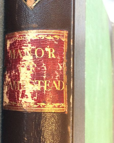 One of the bound copies of Hampstead manorial court records held in the London Metropolitan Archives