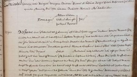 The Latin text in the old Hampstead court rolls