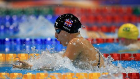 Great Britain's Louise Fiddes during the Women's 100m Breaststroke SB14 World Championship 2019 final