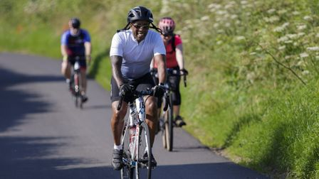 Cyclists taking part in the first Herts Health Ride