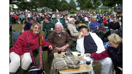 Prom in the Park in Christchurch Park, Ipswich in August, 2005
