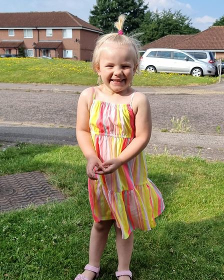 Amelia Lewis is looking forward to going to school in September