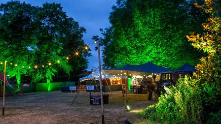 Audiences can enjoy tasty food and drink at Laugh in the Park.