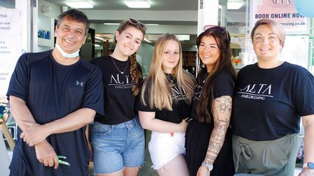 The team atAlta Hairdressing in High Street Hitchin, who put on a charity day in aid of Keech Hospice Care