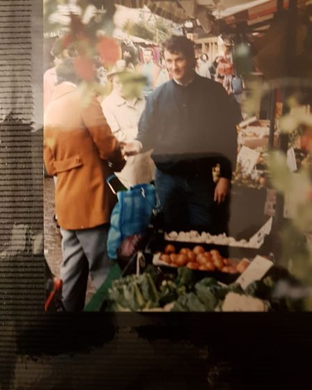 Matt Gray founded Cambridge Juice Company 21 years ago - he is pictured here selling at Cambridge Market