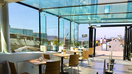 PICTURES: Inside Glass Box Cafe on Grade one listed pier