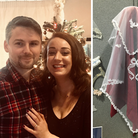 Emily Davis will be marrying Sam Roberts wearing a lace veil her mum made