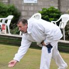 Tony Steer bowling for St Andrews