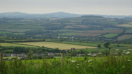 View of West Dorset Hills from the Knoll
