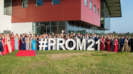Students and staff dressed up to nines for theNorth Walsham High School prom.