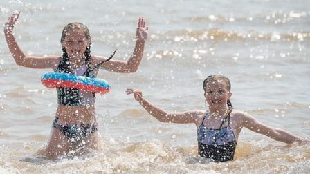 Kids cooling off in the heatwave. Picture: Sarah Lucy Brown