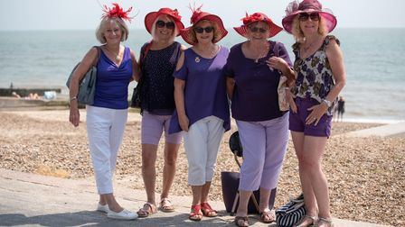 The Ely Cathedral Belles enjoying a day out in Felixstowe. Picture: Sarah Lucy Brown