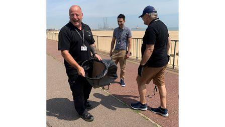 Staff from East Coast College litter picking as part of the Good For Me Good For FE campaign.