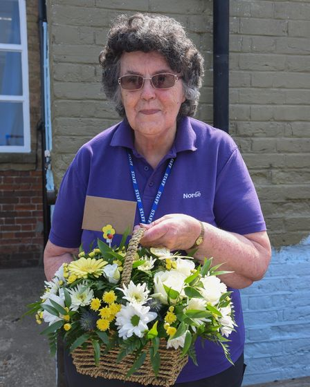 Worstead C of E Primary School's dinner lady Cynthia Clare MBE who is retiring after almost 50 years