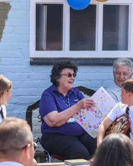 Worstead C of E Primary School's dinner lady Cynthia Clare MBE, who is retiring after almost 50 year