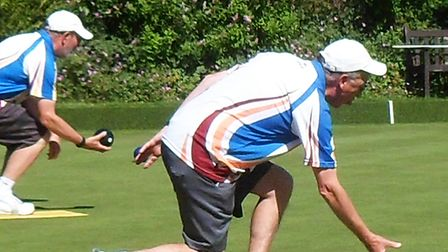 Roy Polley, men's captain at Harpenden Bowling Club