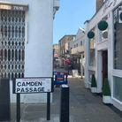 There have been a variety of views about masks along Camden Passage