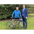 Specialist surgeon James Hahnel from Yorkshire Hip and Knee Group cycling to aid patient recovery