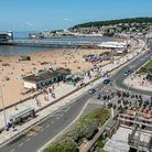 Weston-super-Mare seafront scorching in the July sunshine.