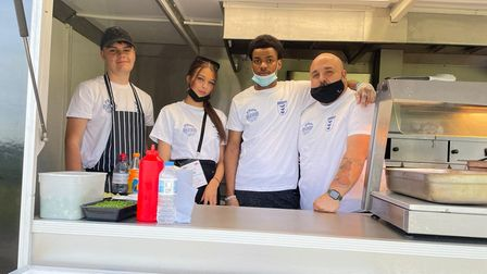 The Chicken George crew from Hitchin were invited up to St George's Park to feed the England Euro 2020 squad