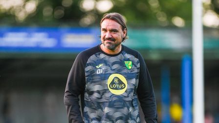 Daniel Farke watched Norwich City beat Lincoln City 1-0 in a behind-closed-doors friendly