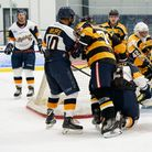 Raiders in action against the Bees at the Sapphire Ice & Leisure Centre