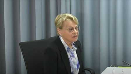 Dr Diana Walford CBE addresses the Infected Blood Inquiry