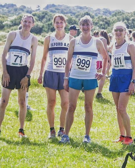 Ilford AC members at the Orion Harriers Forest 5 event