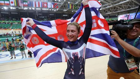 Great Britain's Laura Trott has won a gold medal in the women's omnium at the Rio Olympic Velodrome