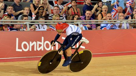 Great Britain's Laura Trott in the Women's Omnium Flying Lap on day Ten of the Olympic Games at the