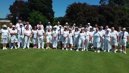 Sidmouth bowlers welcome touring team