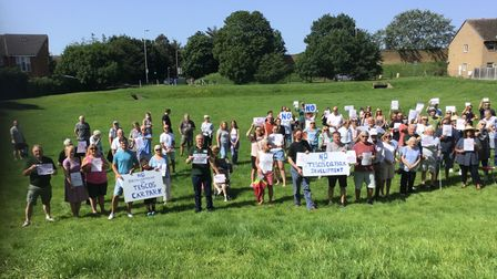 Photo: Harold Wood Hill Park Residents' Association - protest on July 17