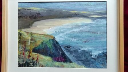 Coast path by Barbara, for sale by silent auction for charity