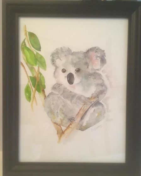 Koala by Liz,for sale by silent auction for charity
