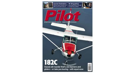 august issue of pilot magazine cover