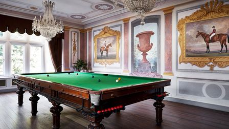 Traditional room with Pool table