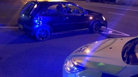 Police responded following a single vehicle crash at about 11.45pm on Monday, July 19 on Katwijk Way in Lowestoft.