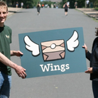 Wings founder Rich Mason and Cllr Asima Shaikh launch the new service