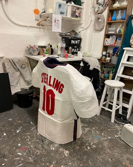 Emmely's ode to Sterling at her studio in Ridley Road Market.