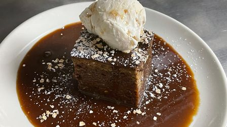 Sticky toffee pudding from the restaurant at Cinema City.