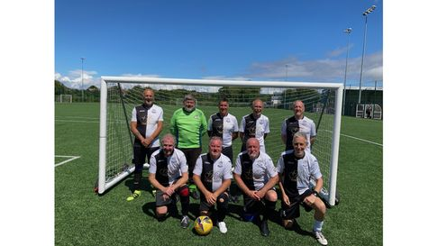 Weston over-65s after their win against Merthyr in the WFA Cup.