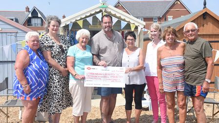 Karen Kennt and Joy Reeve have raised more than £5k for Parkinson's UK. Money being presented to Kar