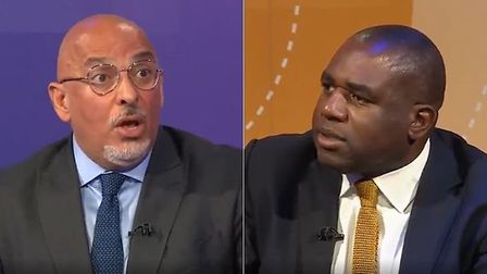 Junior business minister Nadhim Zahawi (L) and the shadow minister for justice, David Lammy, during